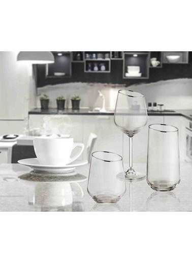 The Mia Gina Su Bardağı Uzun 6 Lı Set - Gümüş Gümüş